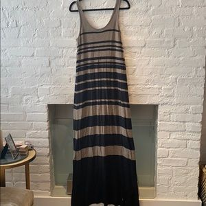 Vince Striped Maxi Sweater Dress sz M